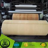 PU que cubre el papel decorativo con el diseño de madera del grano para los muebles