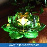 De duidelijke Houder van de Kaars van het Glas van Lotus