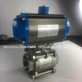 空気アクチュエーターを搭載するCF8m/CF8 3PCの球弁