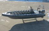 Aqualand 26pieds 8m 14personnes Sponson mousse solide de l'aile Non-Air tube rempli de sauvetage gonflable Système /Rigide /Rib bateau de patrouille militaire (rib800)