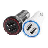 휴대용 이중 USB 운반 이동 전화 차 충전기