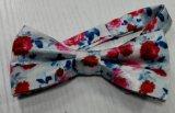 習慣によって印刷される美しい花メンズ絹のちょうネクタイポリエステルちょうネクタイ