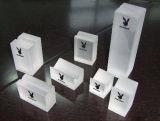 Bloc acrylique clair fait sur commande de présentoir de boucle