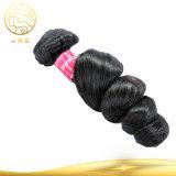 Preiswertes Jungfrau-Haar-Menschenhaar des Großverkauf-100% rohes schwarzes natürliches Remy unverarbeitetes peruanisches