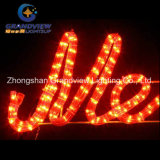 "살아움직이는듯한 104cm ""명랑한 Christmas"" Red Green Sign Motif Rope Lights"