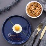 Plats or nordique d'un ensemble de bol de la vaisselle en céramique