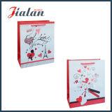 Personnaliser le logo Red Hot Stamping sac cadeau imprimé papier bon marché