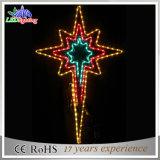Luzes decorativas ao ar livre da corda da estrela do Natal do diodo emissor de luz da decoração do fio