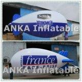 PVC популярного большого гелия раздувной рекламируя голубой Airship