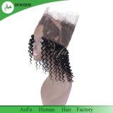 2018 Nouveau lâche péruvien bouclés cheveux vierges 360 frontale de l'homme