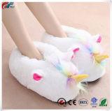 Zapatos de plumas para adultos Peluches Unicorn zapatillas de casa