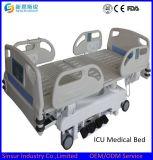 Cama de hospital de múltiples funciones eléctrica de lujo aprobada del equipo ICU del hospital de ISO/Ce