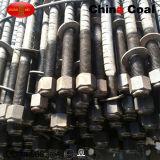 Boulon d'anchrage de haute résistance de roche de support de perçage d'extraction au fond