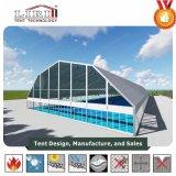 テニスのスポーツの構造のためのテニスコートカバー水証拠の多角形の玄関ひさしのテント