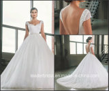 Schutzkappe Sleeves die Brautballkleider, die Satin-Korsett-Tulle-Hochzeits-Kleid G17285 bördeln