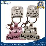 Cadeia de chaves em pele genuína com logotipo personalizado