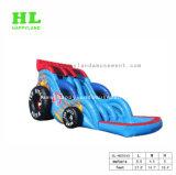 跳躍の城車の形の膨脹可能なスライド