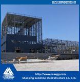 Edifício pré-fabricado personalizado da construção de aço para a maquinaria, equipamento