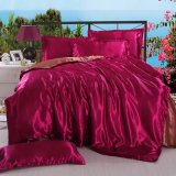 カスタマイズされる赤いカラー結婚式の寝具セットは工場直売を大きさで分類する