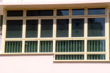 Alumínio Windows deslizante com vidro matizado verde