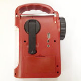 Para el Camping Puerto USB Reproductor de MP3 Cargador de radio de emergencia