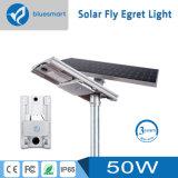 luz de rua psta solar do diodo emissor de luz 50W com o painel solar ajustável