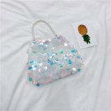 2018 Venta caliente Mini Glitter señoras bolso de la cadena de perlas Singel de moda bolso