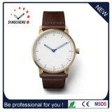 Reloj de acero inoxidable de estilo clásico de los hombres con el dial grande de los segundos