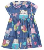 Fashion Lovely Girl Dress in Baby Children Garment