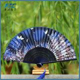 Il ballo di seta del fiore smazza il ventilatore piegante operato della mano dell'annata cinese