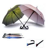 صنع وفقا لطلب الزّبون مروحة تصميم معدن مقبض سيّارة مفتوح مستقيمة [غفل] مظلة