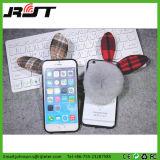 Ретро Cute Клетчатую Боу и меховые шарик сотовый телефон чехол для iPhone 6S Plus