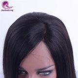 Prezzo all'ingrosso del Virgin di colore del Brown dei capelli del merletto dei capelli lucidi molli diritti di seta pieni cinesi della parrucca