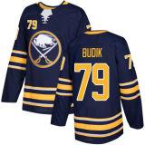 Barato 2018 Nova Marca Ad Mens Sade Kids Buffalo Sabres 45 Brendan Guhle 79 Vojtech Budik 82 Nathan Beaulieu Cliff PU Blue Custom Hockey camisolas