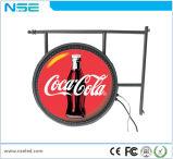 La publicité du signe en aluminium rond extérieur de cadre de l'éclairage LED 3D