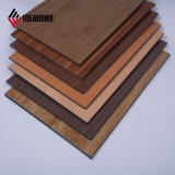 Polyester Wooden Textures Composite Aluminum Decoration Panel