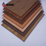 Полиэстер деревянные текстуры алюминиевых композитных панелей наград