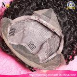 薄茶の完全なレースのかつらのマレーシアの人間の毛髪のポニーテールのかつら12-30inchの顧客用レースのFrontalsはアフリカのかつらで縫う