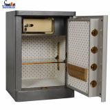 Caixa segura do dinheiro eletrônico do dinheiro do metal do fechamento com manual