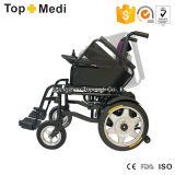 Fauteuil roulant électrique se pliant de pouvoir d'acier d'équipement médical de Topmedi