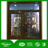 Двойное изолируя Низкое-E стеклянное окно верхнего качества алюминиевое деревянное
