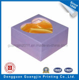 Rectángulo de regalo rígido de papel de lujo de la cartulina con la ventana de la dimensión de una variable del corazón