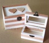 Изготовленный на заказ деревянная коробка древесины коробки коробки хранения коробки ювелирных изделий творческая