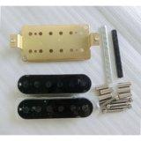 Kit d'ottone della raccolta della chitarra di Humbucker della bobina del nero del piatto base