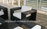 優雅なHandmakeの藤のテラスの柳細工の屋外の庭の家具