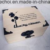 Незавершенные простой сосновой подарочная упаковка с логотипом Customzied
