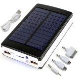 10000mAh Batterie portable LED Chargeur solaire pour téléphone portable Power Bank