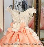 Nach Maß v-Stutzen-Hochzeits-Kleid oben sich schnüren