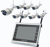 Sistema sem fio da câmera do jogo de Toesee 8CH 1080P WiFi NVR com a câmera ao ar livre do IP da segurança da fiscalização 8PCS