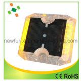 Goujon r3fléchissant solaire de clignotement de route des plots réflectorisés de sécurité routière DEL